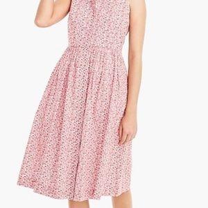 J crew liberty sleeveless cotton midi dress